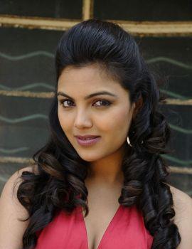 Telugu Actress Priyanka Tiwari in Red Mini Dress Photoshoot