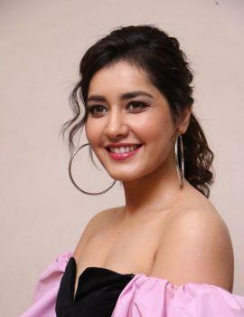 Raashi Khanna Stills at Prati Roju Pandage 2nd Song Launch