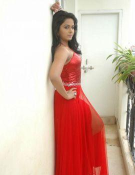 Rachana Maurya in Hot Red Dress
