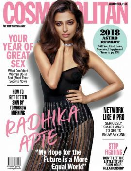 Radhika Apte is on the cover of Cosmopolitan India January 2018