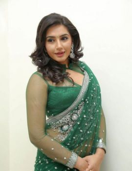 Ragini Dwivedi in Saree at Janda Pai Kapiraju Audio Release
