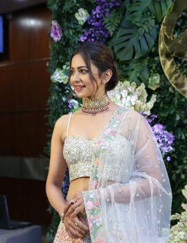Gorgeous Rakul Preet Singh Stills at Saina Nehwal Wedding Reception
