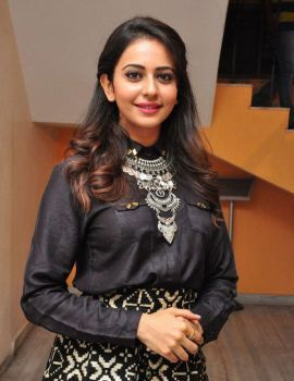 Rakul Preet Singh Latest Stills at Memu Saitham Press Meet