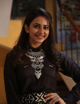 Rakul Preet Singh Latest Stills at Memu Saitham Press Meet