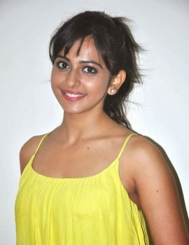 Rakul Preet Singh Stills at Theega and Loukyam Press Meet