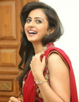 Rakul Preet Singh Stills in Red Saree at Tiger Movie Audio Launch
