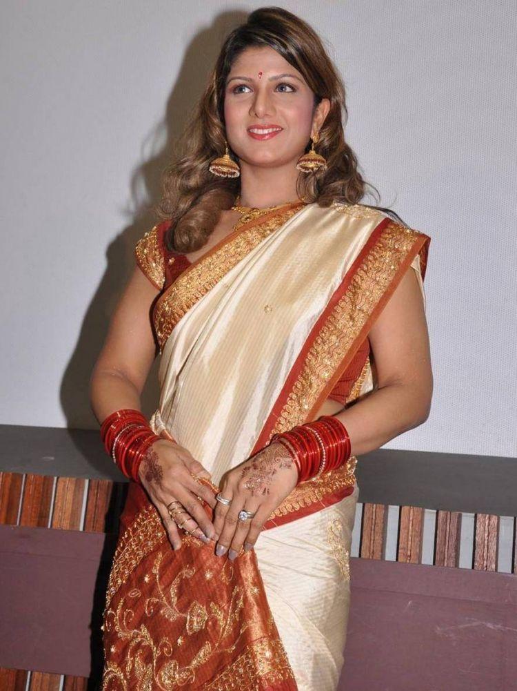 Rambha Latest Stills in Saree