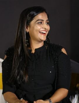 Ramya Nambeesan in Black Dress at Plan Panni Pannanum Movie Audio Launch