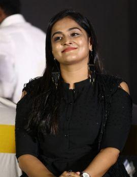 Ramya Nambeesan in Black Dress at Plan Panni Pannanum Movie Audio Launch