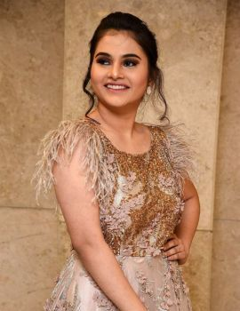 Telugu Actress Ramya Pasupuleti Stills at Hushaaru Movie Pre Release Function