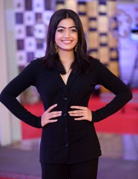 Rashmika Mandanna in Black Dress at Gaana Mirchi Music Awards