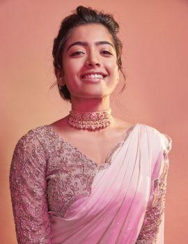 Rashmika Mandanna Latest Photoshoot Stills in Pink Saree