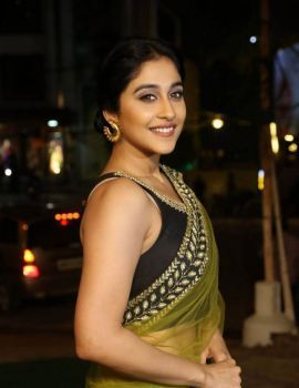 Regina Cassandra in Saree at Vivaha Bhojanambu Restaurant Launch