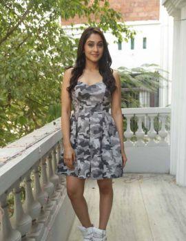 Telugu Actress Regina Cassandra Stills at Shourya Press Meet