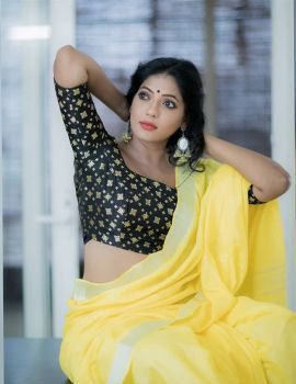 Reshma Pasupuleti Yellow Saree Photoshoot Stills