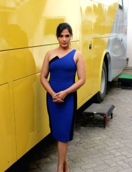 Richa Chadda at Promotion of Television Series Inside Edge in Mumbai
