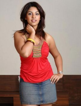 Telugu Actress Richa Gangopadhyay in Red Dress