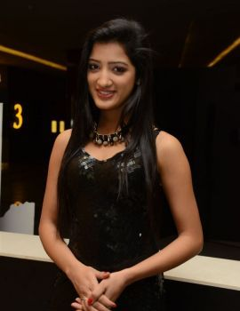 Richa Panai Photos in Black Dress at Kavvintha Movie Audio Launch
