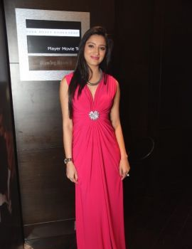 Telugu Actress Richa Panai Stills at Player Movie Trailer Launch