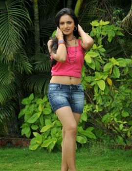 Actress Ritu Kaur in Denim Shorts Stills
