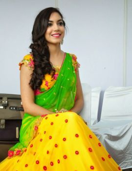 Ritu Varma Photos in saree at Hi Life Exhibition Launch