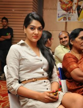 Sakshi Choudhary Stills at Potugadu Movie Platinum Disc Function