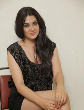 Sakshi Chowdary Latest Stills in Black Short Dress