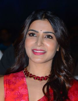 Samantha Akkineni in Red Saree at Jaanu Movie Pre-Release Event