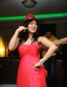 Sana Khan at her birthday party in Mumbai