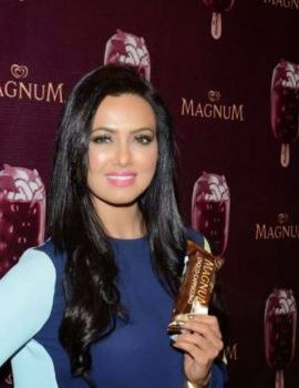 Sana Khan at New Magnum Ice Cream Launch