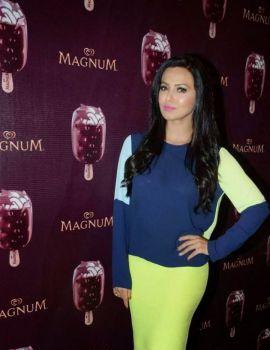 Sana Khan at New Magnum Ice Cream Launch