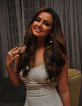 Telugu Actress Sana Khan in White Dress