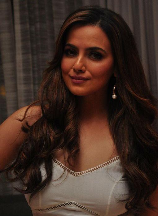 Telugu Actress Sana Khan in White Dress