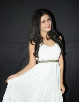 Glamorous South Indian Actress Sanam Shetty in White Dress