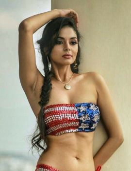Tollywood Actress Sanam Shetty Bikini Photoshoot Stills