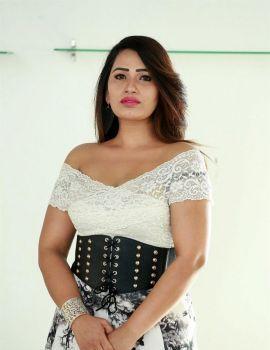 Telugu Actress Sanjana Naidu Photos at Amrutha Varshini Movie Opening
