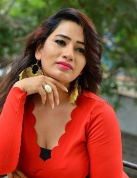 Telugu Actress Sanjana Naidu Stills in Red Dress