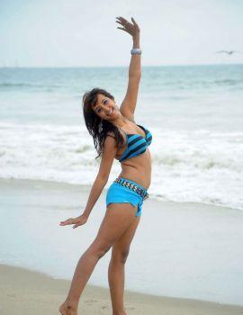 Actress Sanjana's Bikini Stills from Yamaho Yama Telugu Movie
