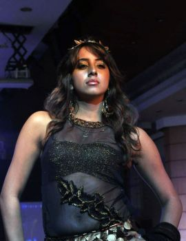 Kannada Actress Sanjana Ramp Walk at Hyderabad Fashion Week 2011