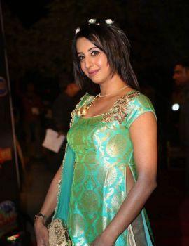 Sanjana Stills at Gemini TV Puraskaralu 2016