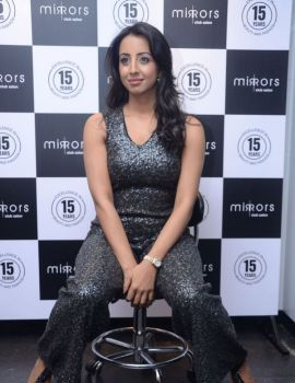 Sanjjana at Mirrors Saloon Launch Event