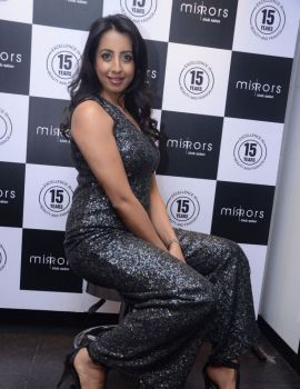 Sanjjana at Mirrors Saloon Launch Event