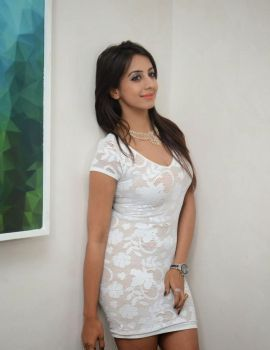 Sanjjanaa in White Skirt at Sapphire Spa Launch