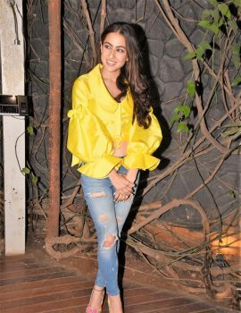 Sara Ali Khan's Casual Avatar for Kedarnath Wrap Up Party