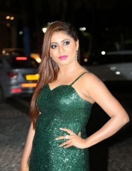 Kannada Actress Sejal Mandavia Photos at 65th Jio Filmfare Awards (South) 2018 Function