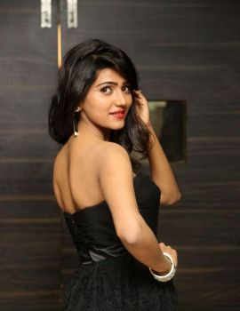 Shalu Chourasiya in Black Gown at O Pilla Nee Valla Audio Launch