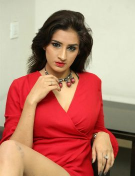 Glamour Girls Movie Actress Sheetal Kapoor Stills in Red Dress