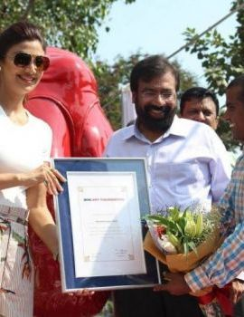 Shilpa Shetty at Yoga Statue Inauguration in Mumbai