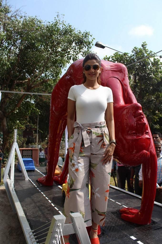 Shilpa Shetty at Yoga Statue Inauguration in Mumbai