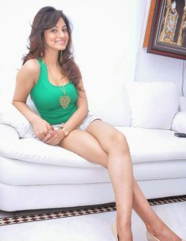 Shilpi Sharma Latest Green Dress Stills